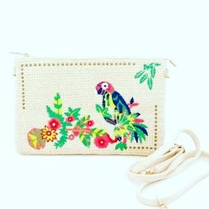 Boho and embroidered clutch bag, showlder bag